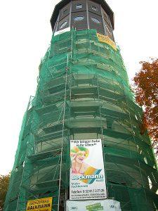 Arbeiten am Wasserturm Gütersloh